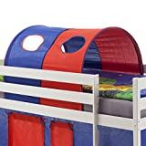 IDIMEX Tunnel MAX für Hochbett Rutschbett Spielbett Kinderbett, in blau/rot