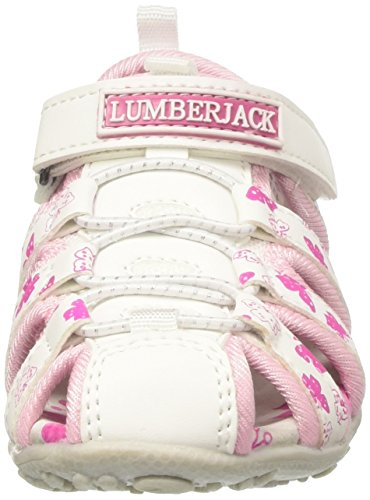 Lumberjack Linda, Sandali con Tacco Bambina Rosa (White/Fuxia)