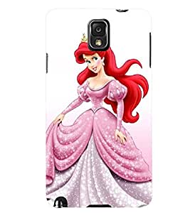 Printvisa Pink And White Dressed Girl Back Case Cover for Samsung Galaxy Note 3 N9000::Samsung Galaxy Note 3 N9002::Samsung Galaxy Note 3 N9005 LTE