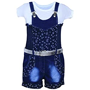 MPC Cute Fashion Girl's Overalls Birthday Jumpsuit (Blue)