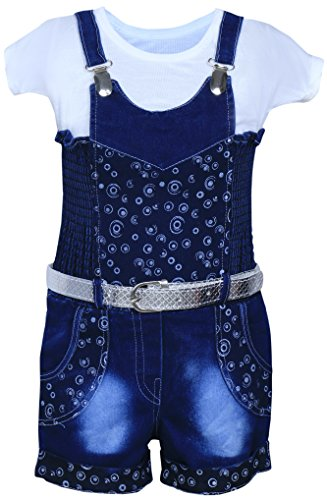 MPC Cute Fashion Girls Jeans Dungaree Jumpsuit (Jeans_Jumpsuit_Blue_2-3 Years)