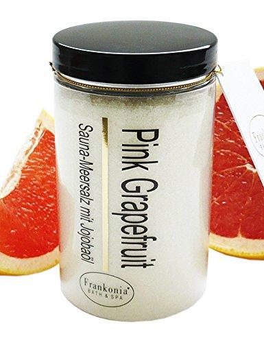 Preisvergleich Produktbild Sauna Salz Pink Grapefruit Meersalz mit Jojobaöl, Körperpeeling 400 g