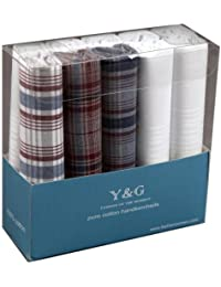 YED02 Fitted Gift Giving Mens 10 Pack Handkerchiefs Set Fitted Design By Y&G