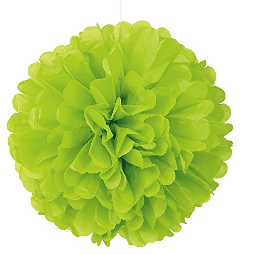 Unique Party 63208 40 cm Neon Vert Citron Papier de Soie Pom