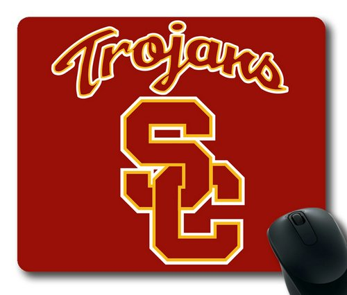 Usc Trojans Computer (USC Trojans on Red Rectangle Mouse Pad by eeMuse)