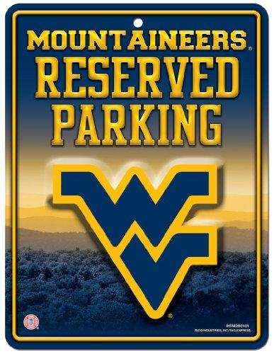 Unbekannt NCAA Abonnements Metall Parken Schild, West Virginia Mountaineers