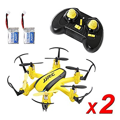 SGILE Mini RC UFO Quadcopter Nano Drone, 360° Flip One Key Flip/Return/Rotation Recover Balance Headless Mode, 2.4GHz 4CH 6 Axis for Kids Children Boys(Two Batteries Included) (Yellow)
