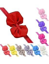 Vococal - 10 Pcs Bebé Niña Gasa Diadema de Forma de Arco de Mariposa / Venda del Pelo de Colores / Pinzas de Cabello / Headwraps / Accesorios de Decoración