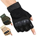 #3: Ocamo Antiskid Tactical Half Finger Gloves Combat Sports Training Fitness Fingerless Gloves