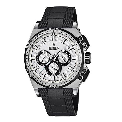 Festina Herren Chronograph Quarz Uhr mit Kautschuk Armband F16970/1