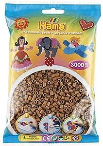 Hama- Cuentas para Planchar, Color marrón