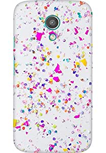 AMEZ designer printed 3d premium high quality back case cover for Moto G2 (iphone confetti)