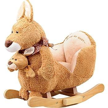 Vivo © Rocking Animal - Kangaroo Animal Rocker for Baby Childrens boys girls with sounds and Baby Kangaroo