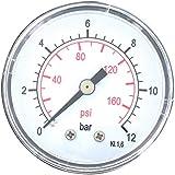 Cap Vert - Manomètre 12 bar / Axial 12 x 17 - 50