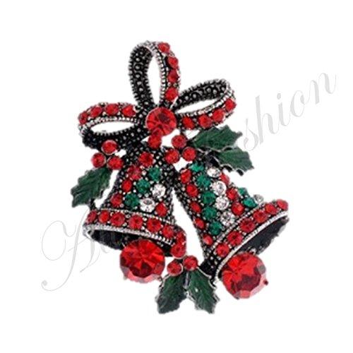 Nuovo Natale campana di Natale con strass