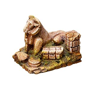 Nobby Ruin with Ram Aquarium Ornaments, 9.3 x 6.5 x 7.3 cm