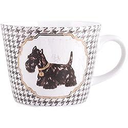 Docrafts Creative Tops Large Pooches de perro Scottie dientes taza de porcelana