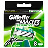Gillette MACH3 Sensitive Power Klingen, 8 Stück