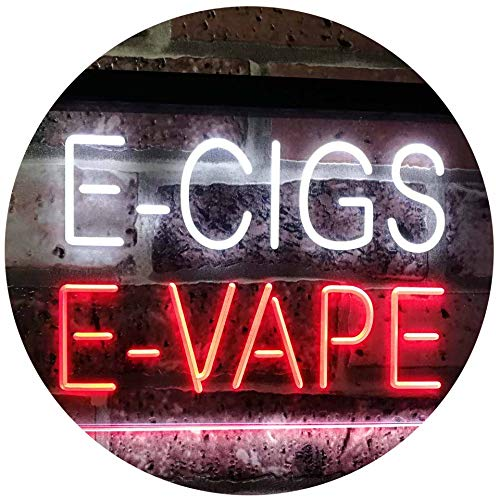 ADVPRO E-Cigs E-Vape Indoor Display Shop Dual Color LED Barlicht Neonlicht Lichtwerbung Neon Sign White & Red 12