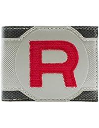 Pokemon Team Rocket Red Stitched Grey ID & Card Bi-Fold Wallet