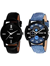 7ccaff4a7ea Pzoz Analogue Multicolor Dial Men s   Boy s Analogue Combo Of 2 Watch