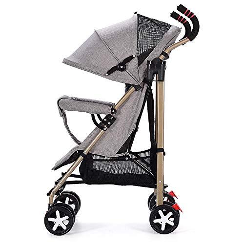 Shisky Sillas de Paseo,Cochecito de bebé Cochecito Plegable de Paisaje Alto y Ligero Cochecito de bebé Sentado Sentado y reclinable