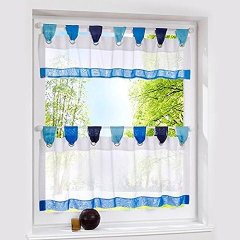 Rideau Placard - Hoomall Décoration de Fenêtre Voilage Rideau Brise