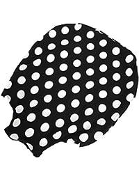 Fundas para Maleta de Equipaje Colorido Anti-Arañazos A Prueba de Polvo Funda de Equipaje de Mano Multiusos(Puntos en Blanco y Negro L)