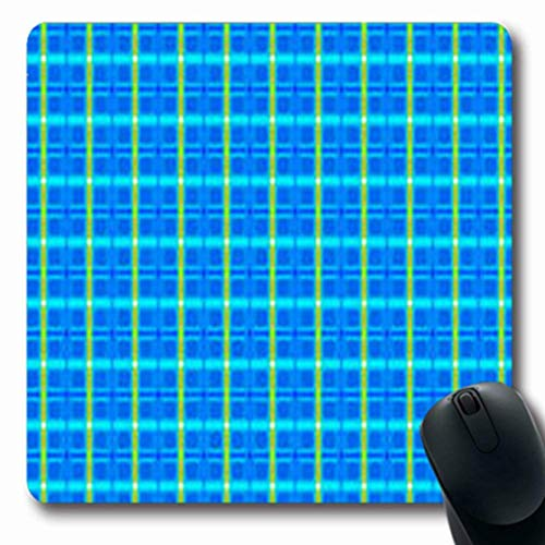Mousepads Weave Abstract Tartan Pattern Modern Digital Grey Gray Gingham That is Repeats Scottish Oblong Shape 7.9 x 9.5 Inches Oblong Gaming Mouse Pad Non-Slip Mouse Mat -