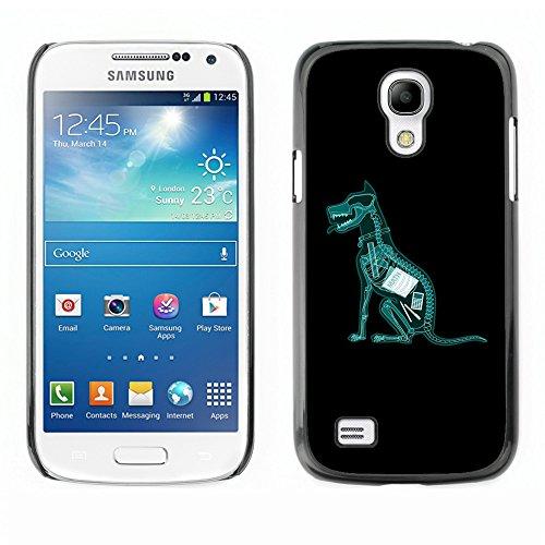 AMAZING-BASE ( Non Per S4 ) Immagine Divertente Rigida Custodia Cover Case Protezione Nero Bordo Per Samsung Galaxy S4 Mini i9190 i9195 - Cane compiti ateo x ray divertente