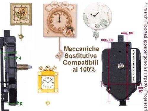 Movimento meccanismo a pendolo filettatura alta anche x ricambio thun e lancette moderne
