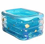 XJRHB Badewanne Baby Pool aufblasbare Baby Kind Pool große Verdickung Isolierung Home Marine Ball Pool Badewanne einschließlich Luftpumpe (Farbe : A)