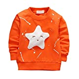 Brightup Kids Girl Boy Spring Autumn Sweatshirt Pullover, Little Kids Long Sleeve T Shirt