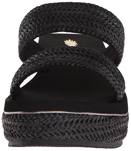 Volatile Janice Leder Keilabsätze Sandale Black