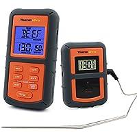 ThermoPro TP-07 Termómetro inalámbrico digital de Cocina, para Horno, Parrilla,Ahumador, Barbacoa, con Temporizador, útil dentro de 100 Metros - Sonda para la Carne