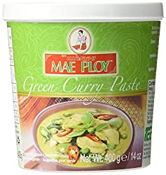 Mae Ploy Green Curry Paste 400 G (Pack Of 4)
