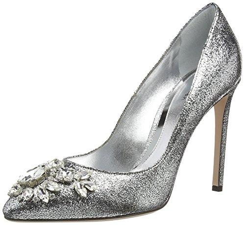 Sebastian S6847 A/21, Decolleté chiuse donna, Argento (Silber (cam.lamin.glitter silver)), 38