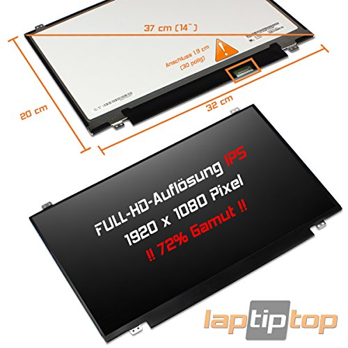 "laptiptop Premium IPS 14\"" LED Display Screen Matt 1920x1080 WUXGA Full HD Fujitsu Lifebook E544 E546 E547 E746 U745 U747"