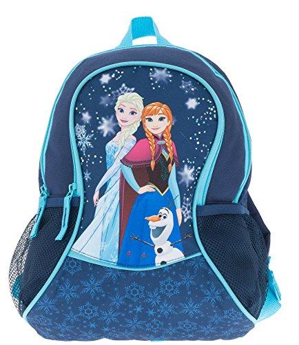 FABRIZIO Kinderrucksack Rucksack FROZEN Disney Die Eiskönigin Anna & Elsa BLAU + Minion Figur