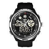 TianranRT Zeblaze VIBE 4 HYBRID Smart Watch Telefon Sport Männer Smartwatch iOS/Android Q5Y8 (Silber)