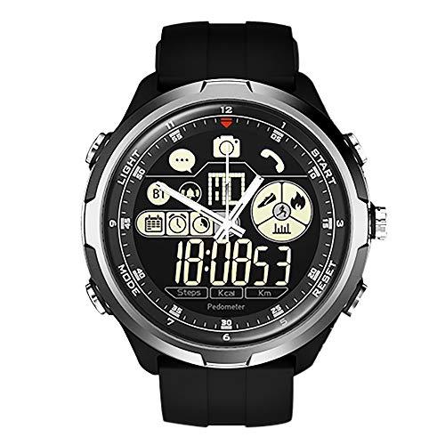IP67 / 50m wasserdicht ZEBLAZE Vibe 4 HYBRID Robuste Smartwatch 1,24 Zoll FSTN & Mechanische Hände Saphirglas Smart Watch Men (Silber)