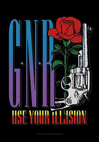 Guns N 'Roses - Use Your Illusion - poster drapeau Logo - 100% Polyester - Taille 75 x 110 cm