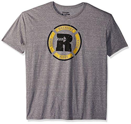 Wrangler Herren Riggs Workwear Short Sleeve Graphic Arbeits-T-Shirt, Grey Heather, XX-Large - Heather Zubehör