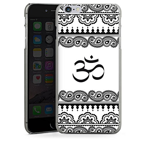 Apple iPhone X Silikon Hülle Case Schutzhülle Mandala Henna Yoga Hard Case anthrazit-klar