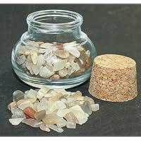budawi® - Mondstein Edelsteine im Dekoglas ca. 50g, echte Edelsteine getrommelt preisvergleich bei billige-tabletten.eu