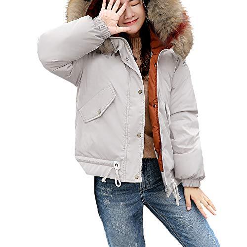 Subfamily-P & S & O Damen Langer Abschnitt Ultra Leicht Daunenjacke Gewicht Steppmantel Packbar Warm Bleiben Übergangs Jacke ()