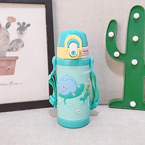 Baby aus der sippy Tasse Trinkbecher mit Strohhalm tragbare Kleinkind-Isolierbecher lernen Trinkwasserbecher, 350ml - Thermoskanne 450