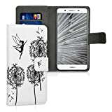 kwmobile Huawei GR3 / P8 Lite Smart Hülle - Kunstleder Wallet Case für Huawei GR3 / P8 Lite Smart mit Kartenfächern und Stand