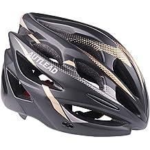 AUTLEAD Casco para Bicicleta con Luz LED, Casco Ajustable Certificado CE, Casco para Bicicleta