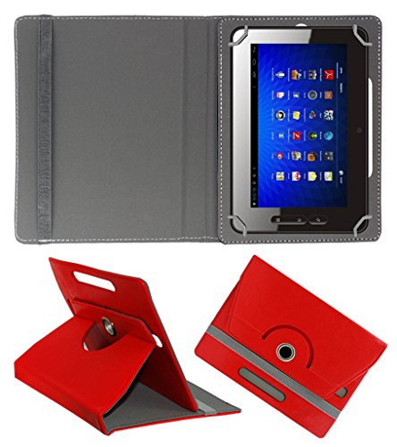 Acm Rotating 360° Leather Flip Case For Micromax Funbook P300 Tablet Cover Stand Red  available at amazon for Rs.149
